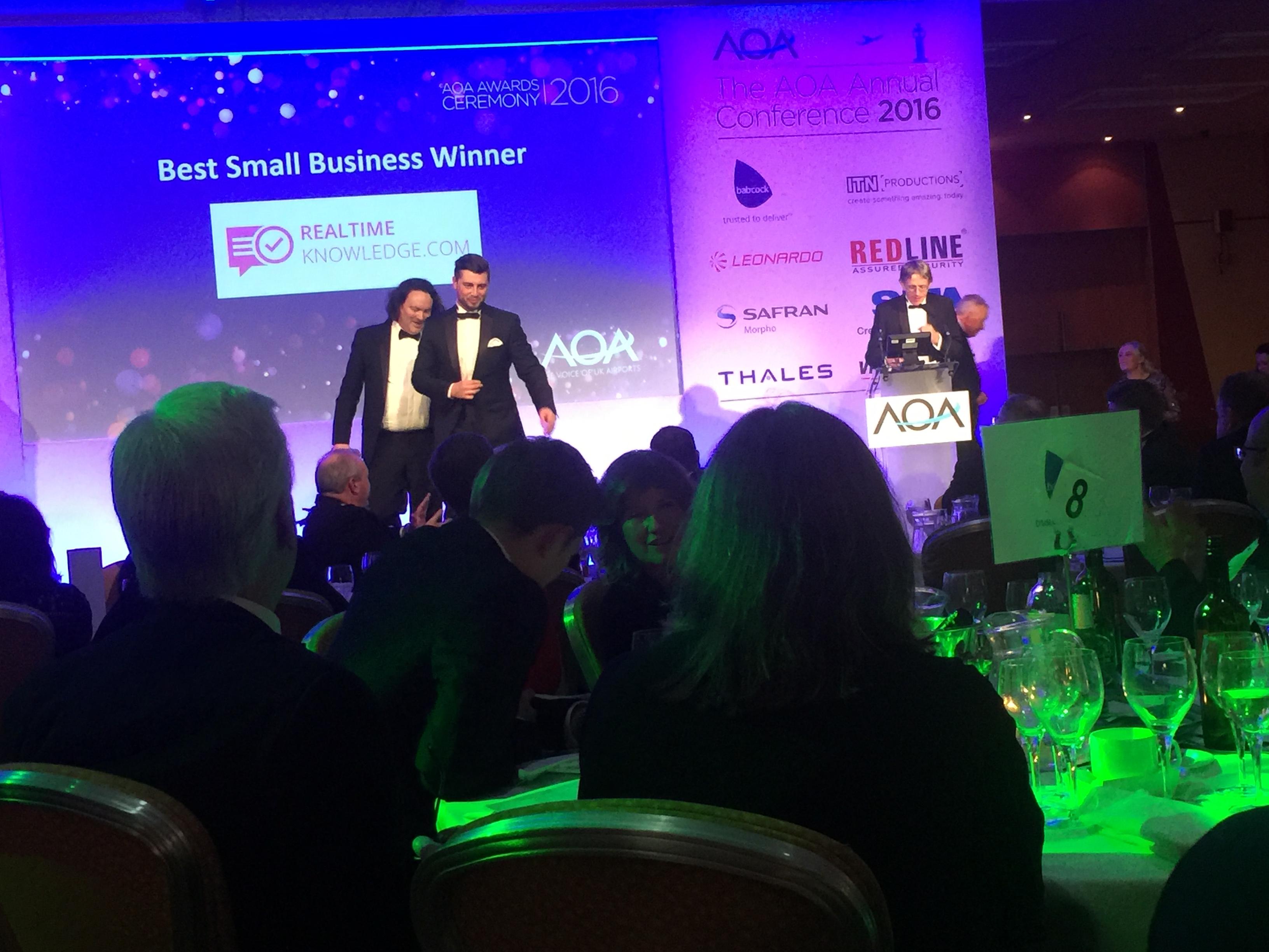 receiving aoa award - best small business